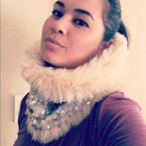 Ann Taylor Loft Faux Fur Infinity Scarf